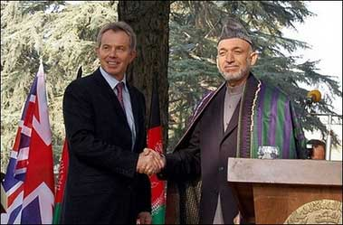 Blair and Karzai
